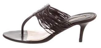 Michael Kors Leather Multi-Strap Sandals Brown Leather Multi-Strap Sandals