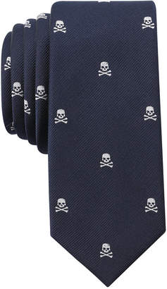 Bar III Men's Multi Print Conversational Skinny Tie, Created for Macy's