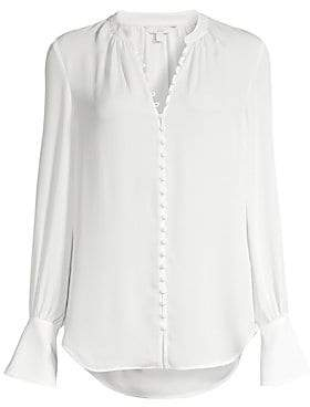 Joie Women's Tariana Silk Covered Button Blouse