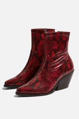 Topshop **Wide fit MISSION Mid Heel Ankle Boots