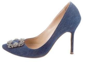 Manolo Blahnik Denim Hangisi Pumps