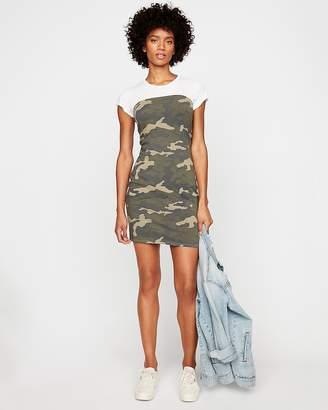 Express Strapless Camo Print Dress