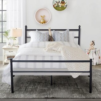 Vecelo Vecelo Twin Bed Frame,Metal Platform Mattress Foundation / Box Spring Replacement With Headboard And Footboard Vecelo