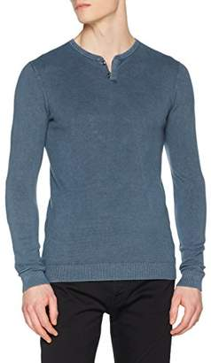 GUESS Men's Ls Sf Stone Benjy Jumper, (Prevail Blue A721 PRVB), Large