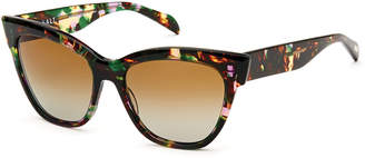 Salt Winslett Polarized Cat-Eye Sunglasses, Tropical Flower