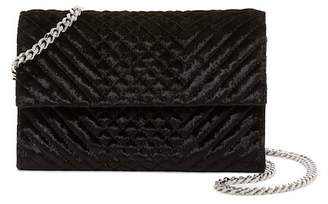 Vince Camuto Fayne Quilted Velvet Clutch