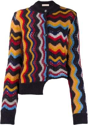 Marni zig zag knitted cardigan
