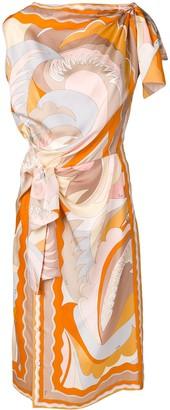 Emilio Pucci Acapulco Piazzato Print Knot Detail Dress
