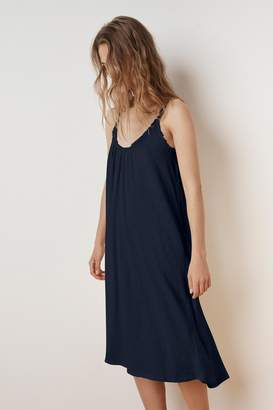 Velvet by Graham & Spencer BURCA COTTON SLUB TIE BACK DRESS