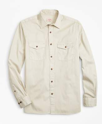 Brooks Brothers Garment-Dyed Cotton Twill Sport Shirt