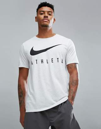 Nike Training Dri-FIT Athlete T-Shirt In White Marle 739420-051