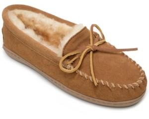 Minnetonka Sheepskin Hardsole Moc Women's Shoes
