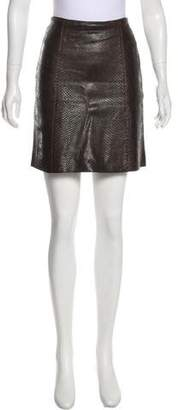 Calvin Klein Collection Snakeskin Mini Skirt