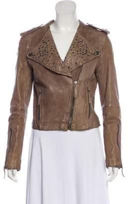 William Rast Embellished Leather Jacket
