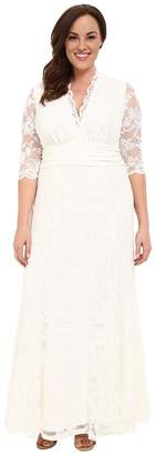 Kiyonna Amour Lace Wedding Gown Women's Dress