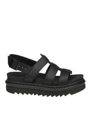 Dr. Martens Yelena Sandals In Black Leather