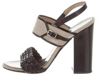 Proenza Schouler Woven Ankle Strap Sandals
