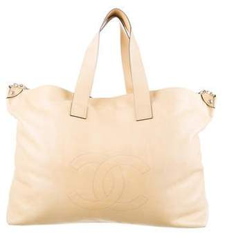 Pre Owned At Therealreal Chanel Xl Soft Edgy Tote