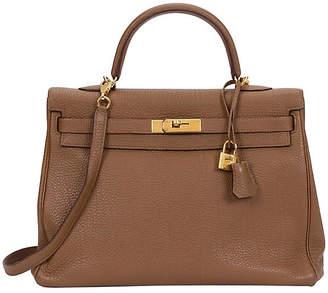 One Kings Lane Vintage Hermès Noisette Gold Fjord Kelly Bag