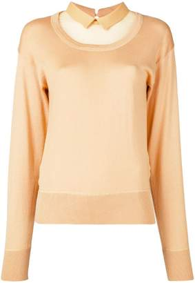 No.21 sheer panel sweatshirt