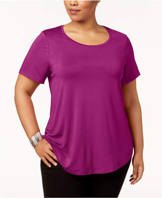 JM Collection Plus Size Short-Sleeve Top