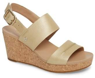 UGG Elena II Metallic Platform Wedge Sandal (Women)