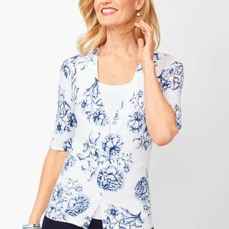 Talbots Kelly Cardigan - Traced Floral