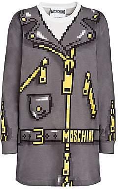 Moschino Women's x Sims Pixel Capsule Jersey Over Sweatshirt