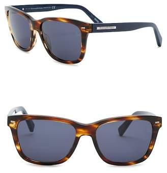 Zegna Uomo Men's Square 57mm Acetate Frame Sunglasses