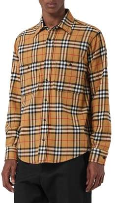 Burberry Lyndhurst Check Flannel Shirt
