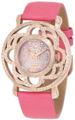 Brillier 【日本未発売】 ブリエ) Women's 04-31323-02 Papillon Swiss-Quartz Mother-Of-Pearl Watch
