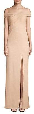 Aidan Mattox Women's Off-The-Shoulder Gown