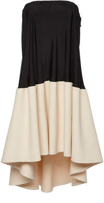 Tibi Sculpted Soft Drape Strapless Bias Dress