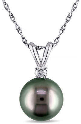 CONCERTO 14KW Pendant with .05TDW 8-9mm Tahitian Cultured Pearl and Chain