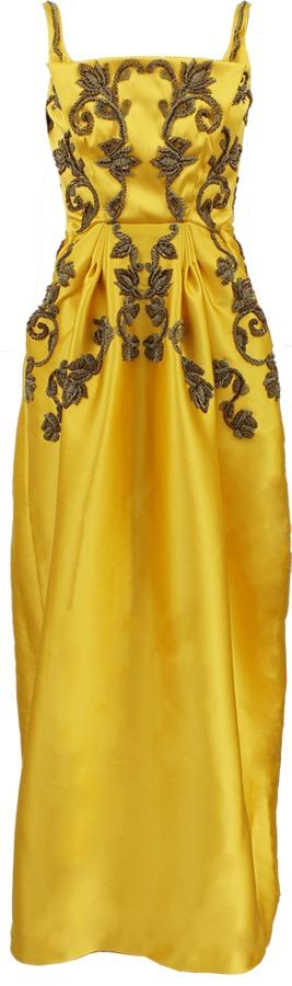 Zac Posen Sleeveless Embroidered Gown