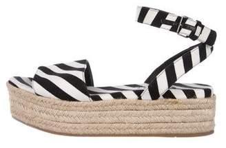 Miu Miu Striped Espadrille Sandals