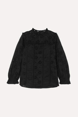 J.Crew Bash Ruffled Broderie Anglaise Cotton-voile Blouse