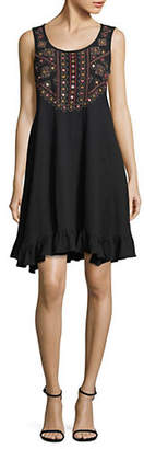 Style&Co. STYLE & CO. Ruffled Cotton A-Line Dress