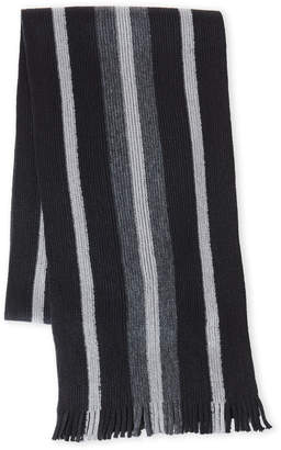 Michael Kors Michael By Striped Knit Fringe Scarf