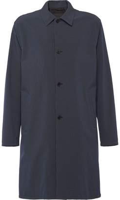 Prada technical houndstooth check raincoat