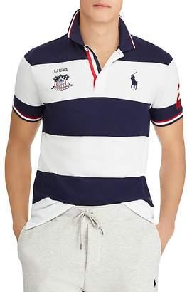 Polo Ralph Lauren Striped Custom Slim Fit Mesh Polo Shirt
