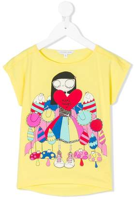 Little Marc Jacobs Miss Marc print T-shirt