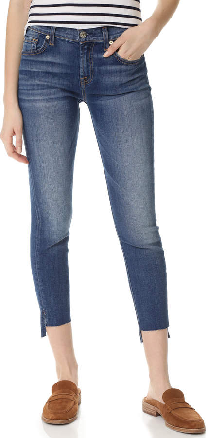 7 For All Mankind 7 For All Mankind Ankle Skinny Jeans with Step Hem