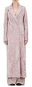The Row Women's Heiden Lamb Fur Coat - Lavendar