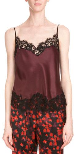 GivenchyGivenchy Lace-Trim Two-Tone Camisole