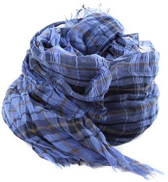Lanvin Plaid Scarf Blue