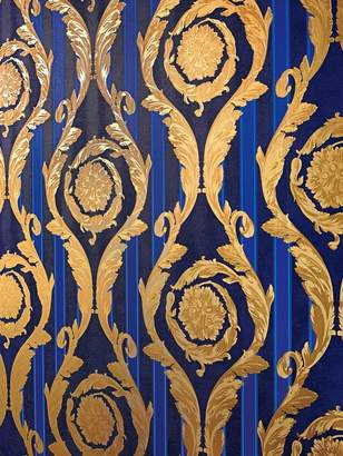 Versace (ヴェルサーチ) - Versace Barocco And Stripes Printed Wallpaper