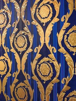 Versace (ヴェルサーチ) - Versace Barocco And Stripes Wallpaper