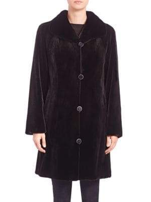 The Fur Salon Reversible Mink Fur Velvet Coat