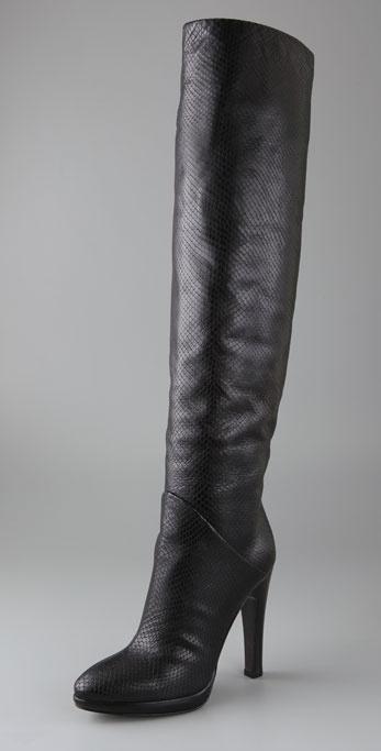 Giuseppe Zanotti Shoes Python Print Over the Knee Boots